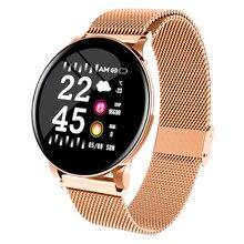 W8 Sport Smart Horloge Armband Ronde Bluetooths Waterdichte Mannelijke Smartwatch Mannen Vrouwen Fitness Tracker Wrist Band voor Android IOS