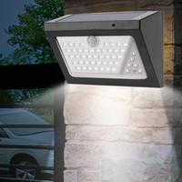 Outdoor Wall Lamp 80 LED Solar Powered Waterproof Wall Light Human Body Motion Sensor Home Security Lamp Led Light