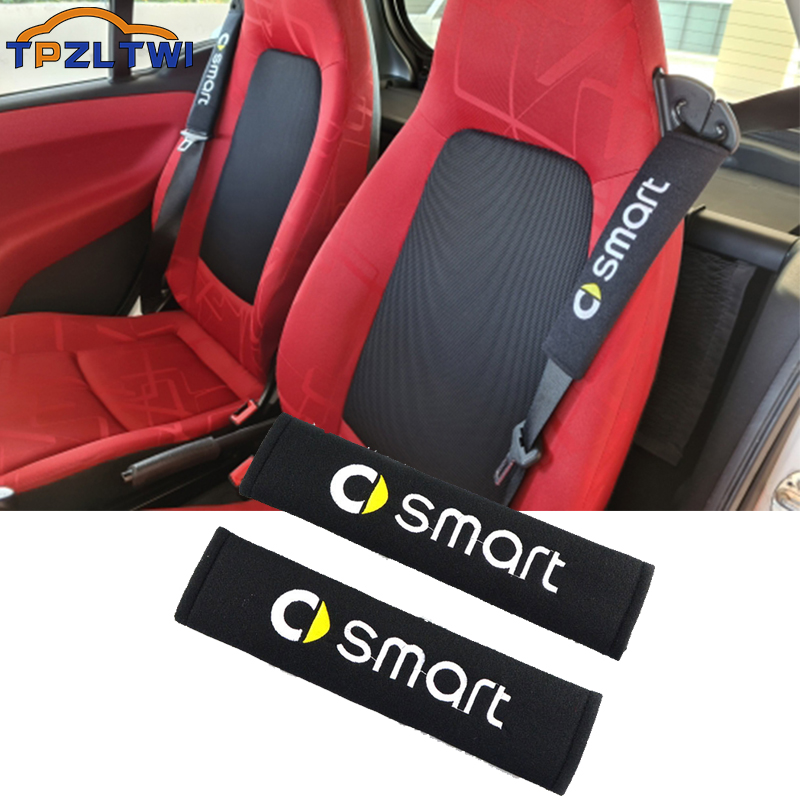 For Smart Fortwo Forfour 453 451 450 Crossblade Cabrio City-coupe Roadster Car Seat Belt Cover Safety Belts Shoulder Protection Perfect In Workmanship