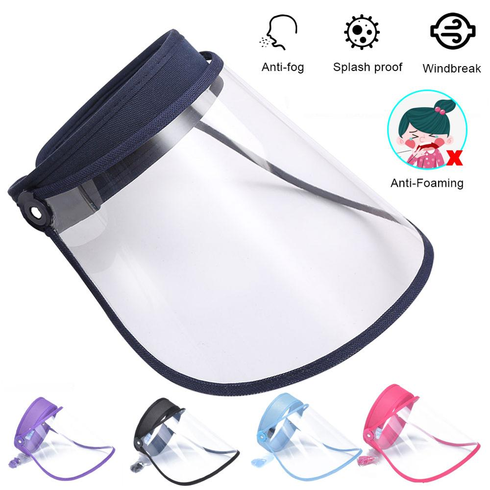 Erilles Full Face Masks Anti-droplets Anti-fog Dust-proof Face Shield Protective Cover Waterproof Transparent Safety Mask