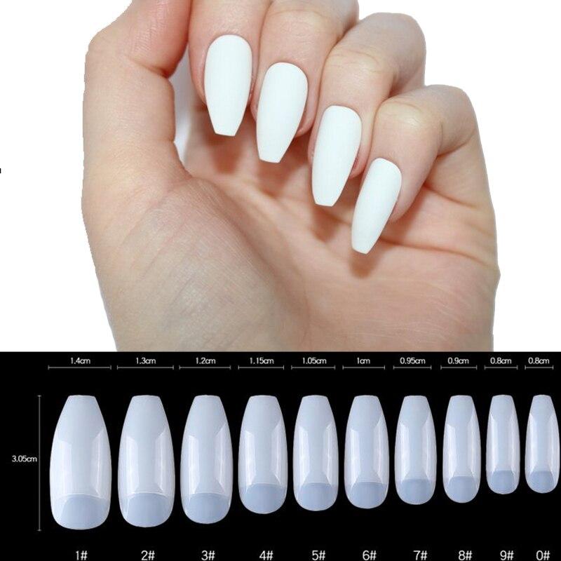 500pcs/bag Ballerina False Nails Clear/White/Natural Nail