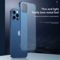 Custodia opaca Ultra sottile per iPhone 12 Pro Max 11 Pro Max XS Max 7 8 Plus XR X 6 6S SE 2020 nuova Cover posteriore rigida trasparente tinta unita