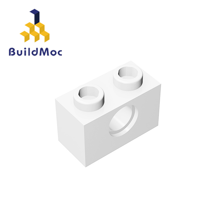 BuildMOC Compatible Assembles Particles 3700 Technic, Brick 1x2 With Hol For Building Blocks Parts DIY LOGO Educational Gift Toy