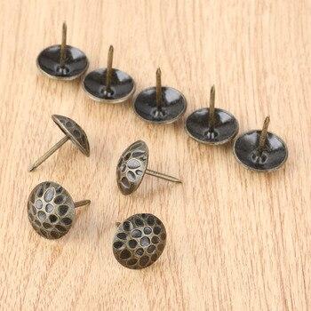 10Pcs Upholstery Nail Tachas Jewelry Gift Box Sofa Decorative Furniture Nails Tacks Stud Pushpin Antique Hardware 19*20mm