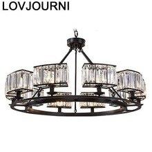Moderne Design Lustre Pendente Kitchen Lamp De Techo Lampara Colgante Loft Crystal Light Luminaire Suspendu Luminaria Hanglamp