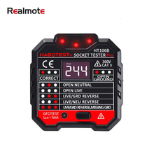 Realmote Socket Detector Power Polarity Electroscope RCD Electric Socket Automatic Neutral Live Earth Wire Test Tester