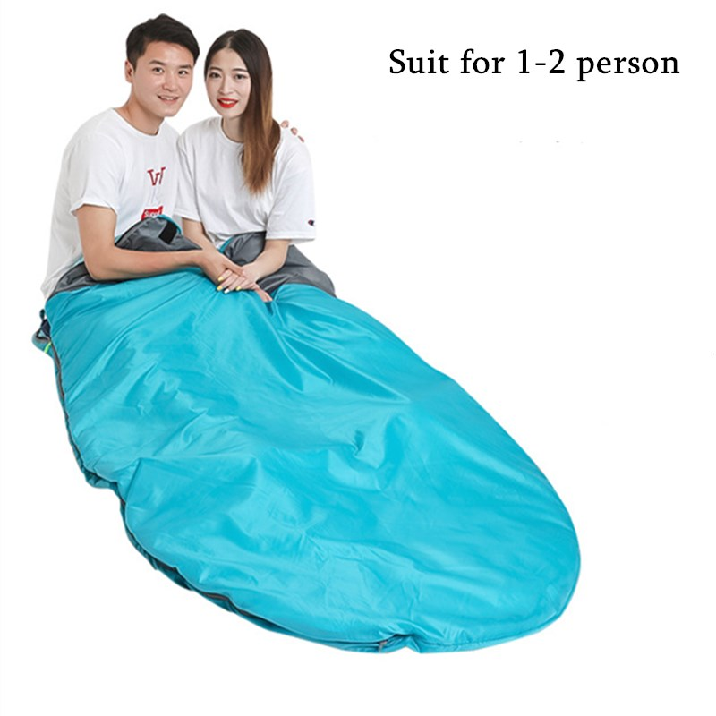 Outdoor Travel Portable Adult Sleeping Bag 1-2 People Camping Large Cotton Warm and Moisture-proof All Seasons