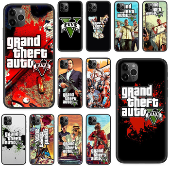 Grand Theft Auto V Phone case For iphone 4 4s 5 5S SE 5C 6 6S 7 8 plus X XS XR 11 PRO MAX 2020 black waterproof pretty back image