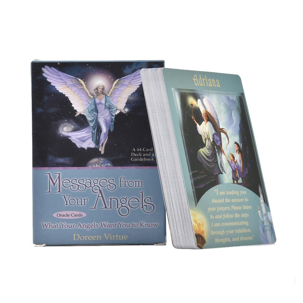 44PCS Messages From Your Angels Oracle Cards Deck Mysterious Tarot Cards  Board Game Table Playing Games Cards For Family Party