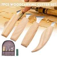 7 stücke Holz Carving Messer Meißel Carving Cutter Carving Holzbearbeitung CutterHand Werkzeug Set Hohe Festigkeit Süchtig Whittling Cutter