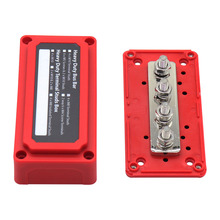Box Power-Distribution-Block 300A Busbar Heavy-Duty 4-Terminal DC Car 48v Organizer Studs