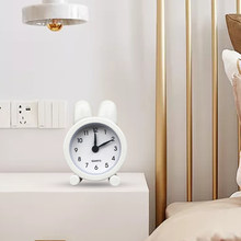Electronic Travel Mini Metal Desk Student For Bedroom Gifts Kids Adult Alarm Clock Home Office Cute Battery Operated Rabbit Ears(China)