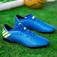 Beliebte Turf Männer Fußball Schuhe Lace Up Turnschuhe Marke Männer Pu Professionelle Fußball Schuhe Designer Männer Fußball Turnschuhe Schwarz-in Fußballschuhe aus Sport und Unterhaltung bei