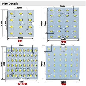 Image 3 - 1/5 sets LED PCB + נהג ערכות 6W 12W 18W LED Downlight אלומיניום אור צלעות קירור SMD5730 110lm/w כיכר אור מקור עבור פנל מנורה