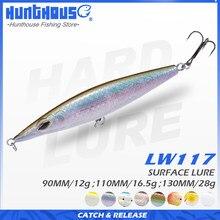 Lápis de superfície flutuante para caça, isca de pesca tipo stickbait, 110mm, 16.5g