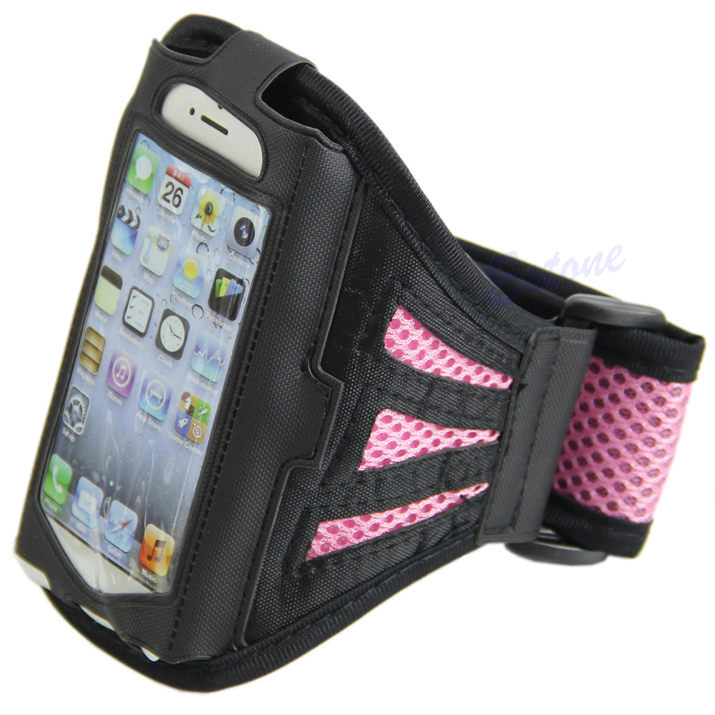 Outdoor Gym Sport Workout Running Armband Adjustable Case Cover For iPhone 5S 5C