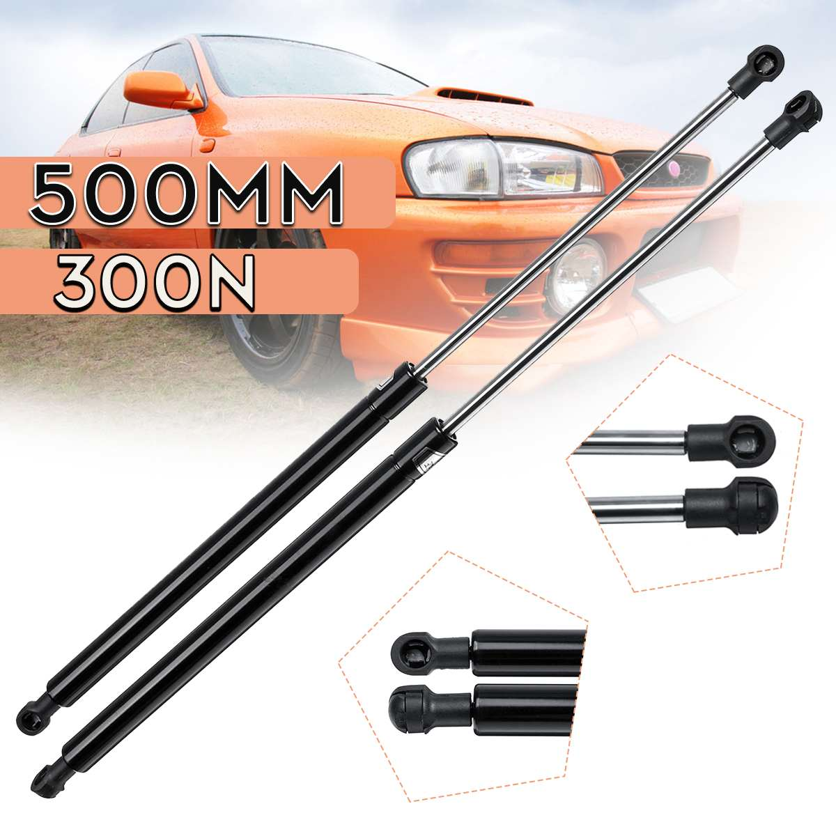 2x LIFT-O-MAT Gas Spring for Car Boot Tailgate Saloon