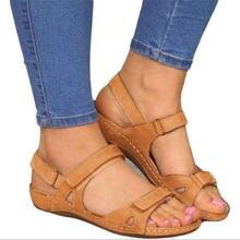 Сандалии женские ортопедические на низком каблуке босоножки