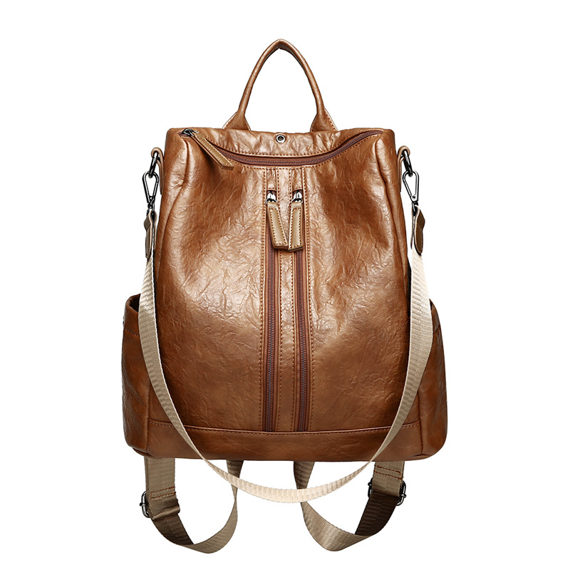WOMEN'S Bag 2017 New Style Korean-style Versatile Fashion Multi-functional Fashion Casual WOMEN'S Backpack Schoolbag