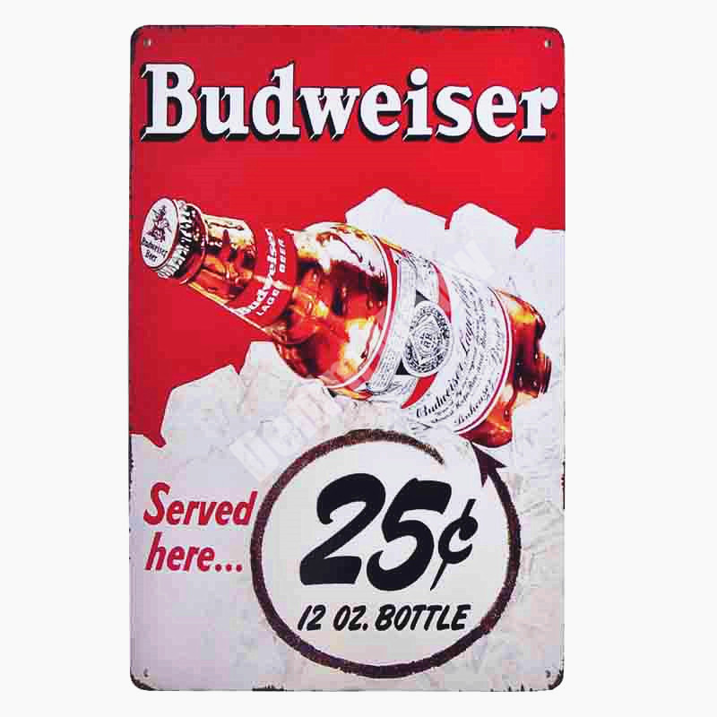 Ice Cold Cola Plaque Retro Metal Tin Signs Pub Bar Cafe Club Drinks Shop Casino Decoration Wall Stickers Vintage Decor MN100 in Plaques Signs from Home Garden