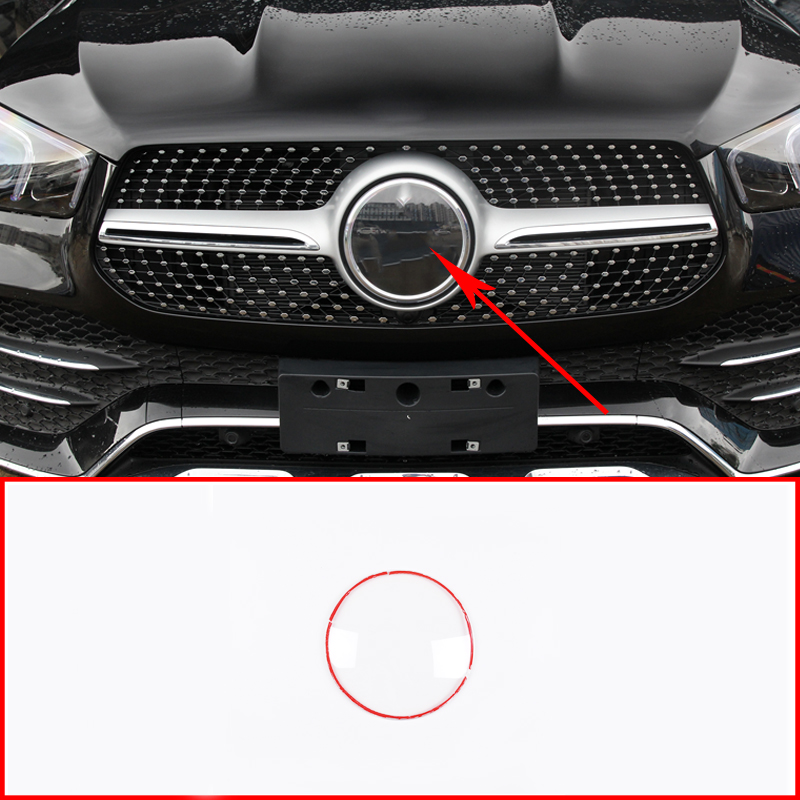 Araba ABS Logo koruma kapağı Mercedes Benz GLE GLC GLS 2013-2020 GLE350 GLE450 aksesuarları