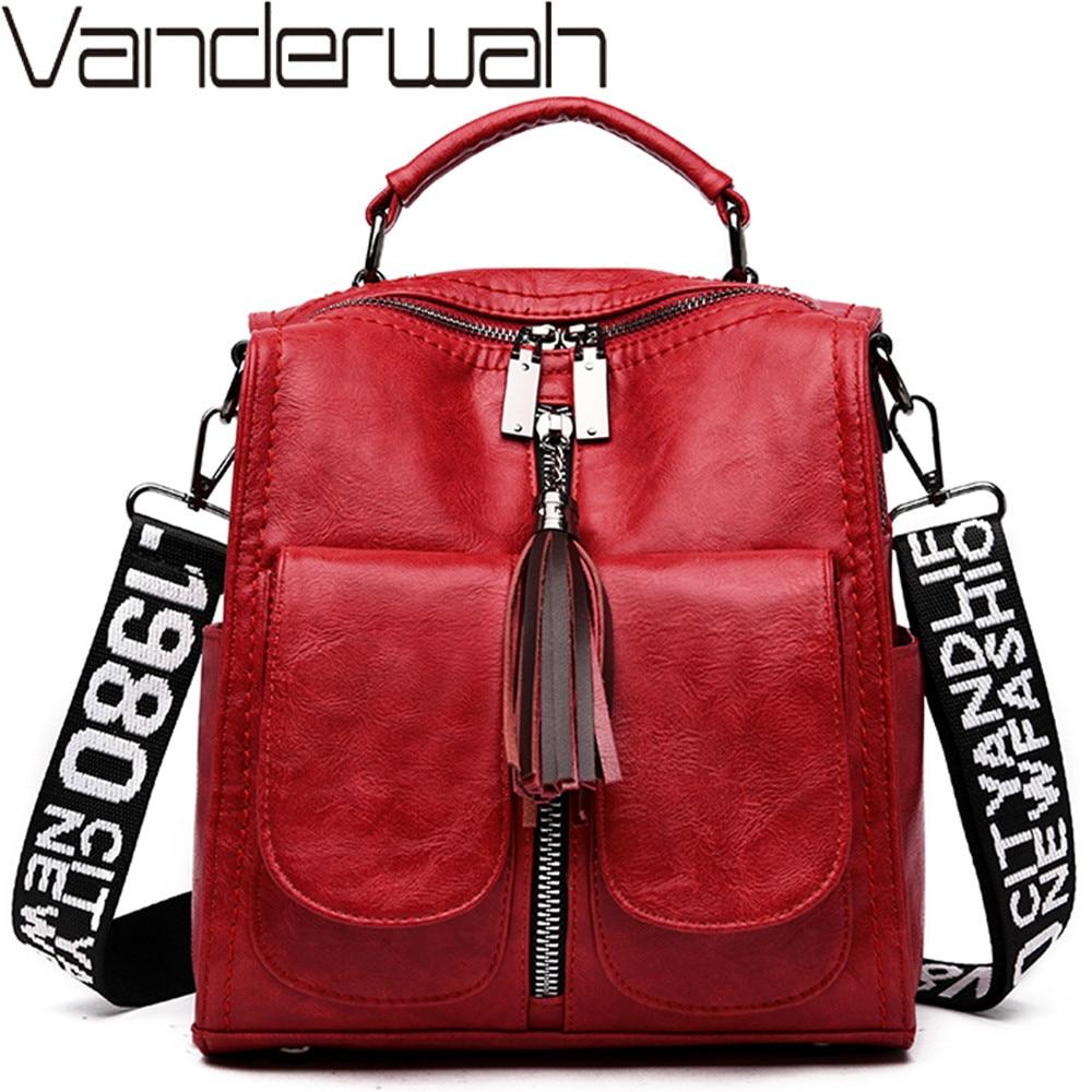 3 In 1 Luxury Women Leather Backpacks Fashion Multifunction Shoulder Bags Ladies Travel Backpack School Bags For Teenage Girls