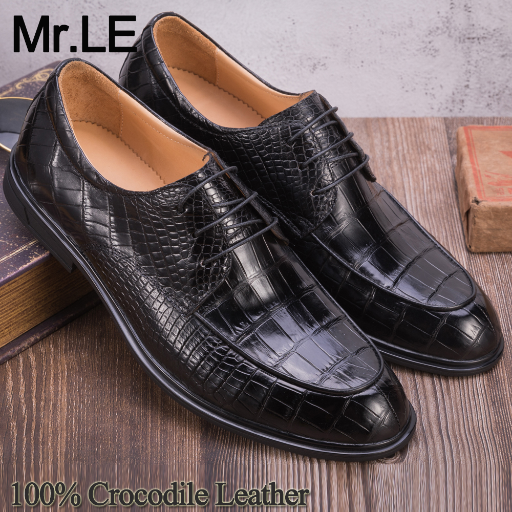 Crocodile Shoes Men Dress 100% Genuine Leather Brand Designer Party Wedding Luxury Men's Oxford Casual Formal Alligator Shoe