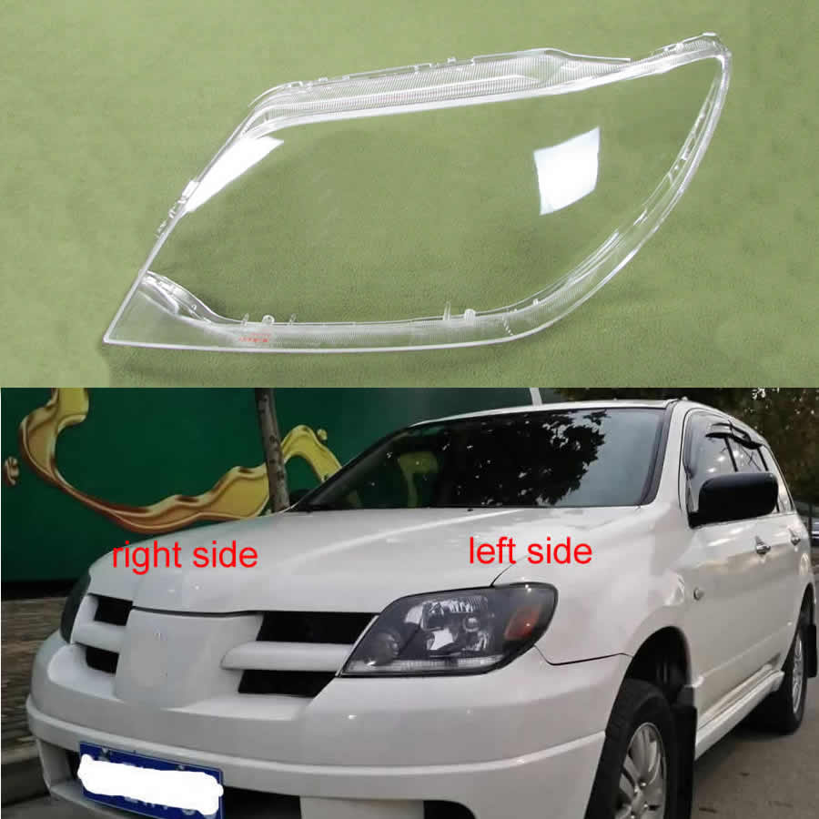 For Mitsubishi Outlander 2004 2005 2006 Headlight Cover Lamp Shade Headlights Shell Lampshade Headlamp Glass Headlight Lens