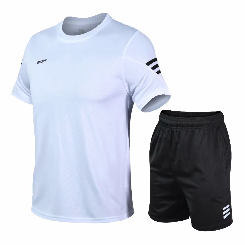 2 Pcs/Set Men's Tracksuit Gym Fitness badminton Sports Suit Clothes Running Jogging Sport Wear Exercise Workout set sportswear 3