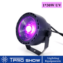 UV COB LED Party Light 30W Mini LED Par Light Dmx512 Sound Control Spot Light UV Black Light Lamp For Home Party Dj Stage Show