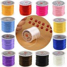 10m/rolo de cristal elástico forte beading cords 1mm para diy pulseiras frisadas elásticas jóias que fazem linha de corda de linha de estiramento