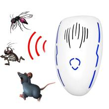 Electronic Mosquito Repellent Indoor Cockroach Mosquito Insect Killer Rodent Contro Ultrasonic Pest Repeller useful ultrasonic electronicrepeller new white riddex plus electronic pest rodent control eepeller 220v