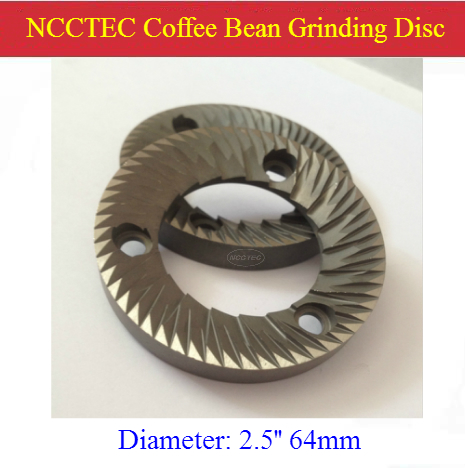 [2 Pieces Per Package] 2.5'' Coffee Bean Grinding Discs Stones | 64mm Steel Cutter Disc Blade For Mazzer Coffee Grinder