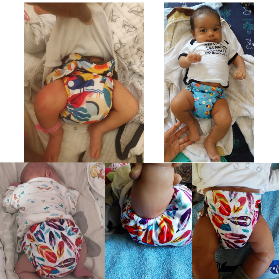 Eco Friendly Cloth Diapers Newborn Baby Diaper Charcoal Bamboo lin