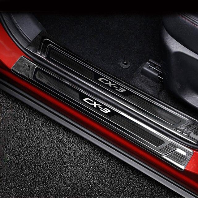 עבור מאזדה CX 3 CX3 2015 2016 2017 2018 2019 נירוסטה לרכב דלת אדן שפשוף צלחת בברכה דוושות מגן Trim אבזרים