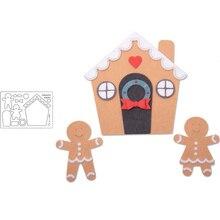 Popular Lovely Gingerbread House Cute People Metal Cutting Dies Scrapbooking Album Paper DIY Card Crafts Embossing New 2019