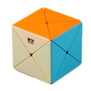 Qiyi X Cube 2x2x2 X-Shaped Magic Cube Qiyi X speed Cube 2x2 Strange-Shape Puzzle Cube Toys