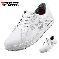 PGM حذاء جولف المرأة جولف الرياضة أحذية تدريب خفيفة الوزن مقاوم للماء حذاء أبيض صغير في الهواء الطلق أصيلة تنفس أحذية رياضية
