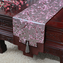 Luxury plum blossoms Damask Table Runner Latest Chinese style Home Decor Tea Cloth Silk Brocade Rectangle Dining Mat