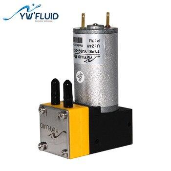 Bomba de diafragma de laboratorio YWfluid de alta calidad de larga duración 12v/24v con motor dc utilizado para equipos de laboratorio