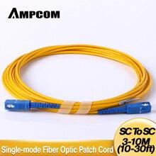 AMPCOM SC SC Fiber Patch Cable Simplex 9/125 SC/UPC to SC/UPC Singlemode Jumper Single Mode Patch-Cord sc/sc SMF