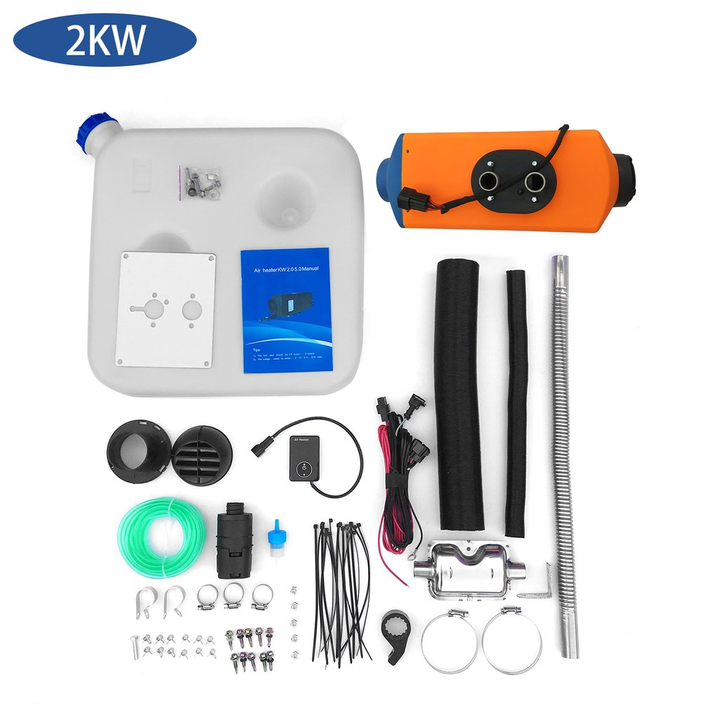 12V 3KW R/échauffeur de stationnement R/échauffeur dair R/échauffeur diesel Chauffage Air diesel carburant Kit pour V/éhicules Voiture Moteur