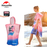 NatureHike Outdoor UV Protection Swimming Diving Bathrobe Women Man Changing Robe Hooded Beach Towel Fast Drying Poncho Towels