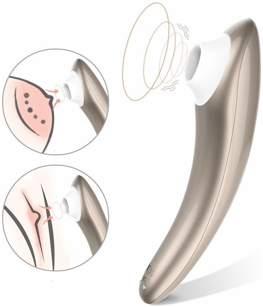 Stimulateur de Clitoris avec 10 Modes d'aspiration technologie d'onde de pression d'impulsion d'air jouets sexuels rechargeables imperméables pour les Couples de femmes