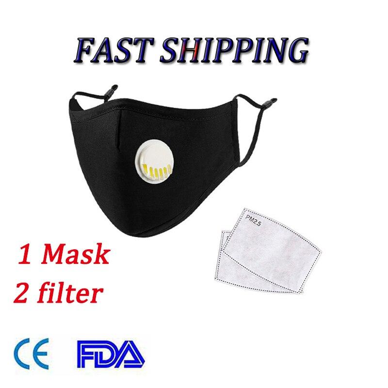 Многоразовая хлопковая маска PM2.5, противопылезащитная маска, фильтр с активированным углем, Ветрозащитная маска для рта, защита от бактерий...