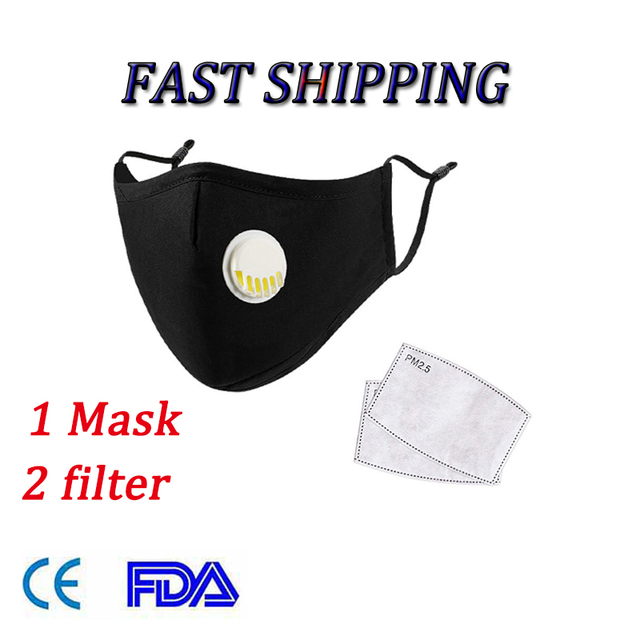 Reusable Cotton PM2.5 Mask Anti Dust Mask Activated Carbon Filter Windproof Mouth-muffle Proof Flu Face Masks Care Dropshipping