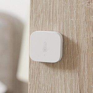 Image 5 - Aqara casa inteligente sensor de umidade temperatura detectar pressão atmosférica sem fio zigbee trabalho com homekit mijia app
