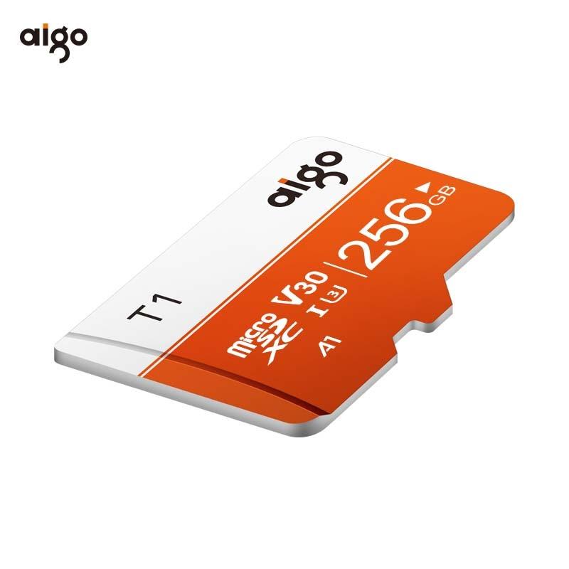 Aigo 256G 97MB/S high speed microsd card UHS-3 V30 A1 micro sd card waterproof tf card heat resistant memory card