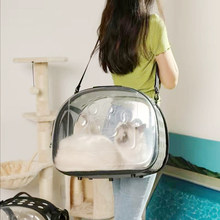 Gato portble transportadora dobrável saco de cão dobrável espaço viagem mochila único ombro bolsa portátil transporte gaiola produtos