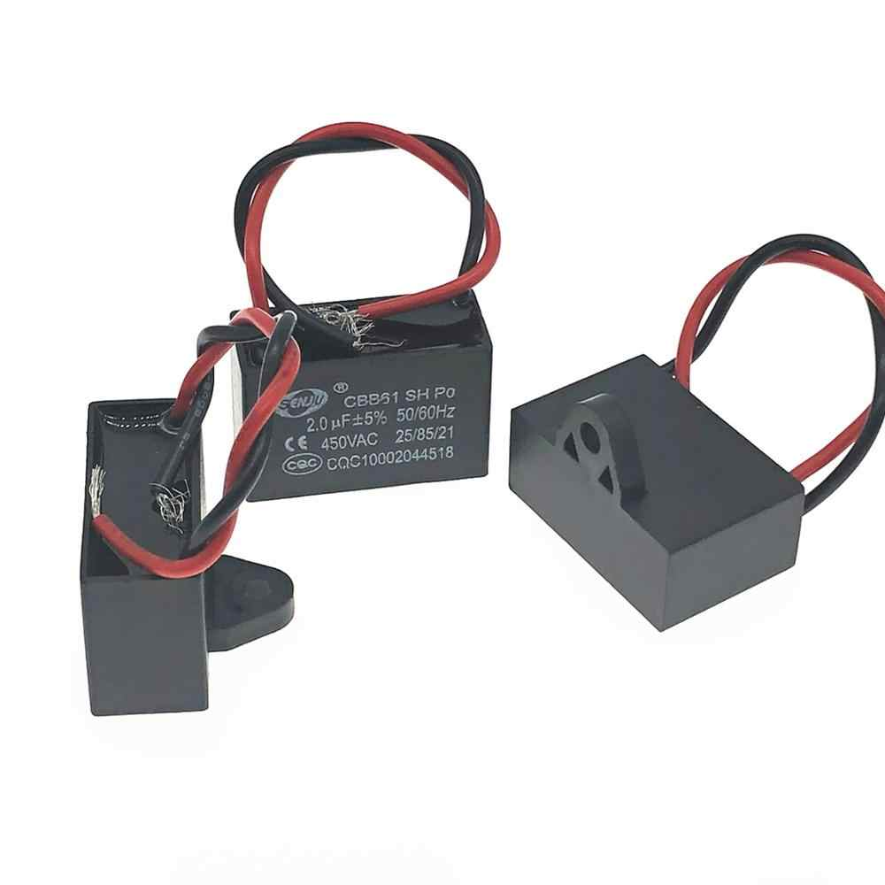 1x CBB61 Fan Start Capacitor 1 1.2 1.5 2 2.5 3 3.5 4 4.5 5UF 450V AC Capacitors